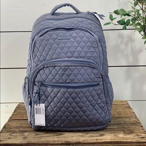 Vera Bradley Lg Essential Backpack - Carbon Gray